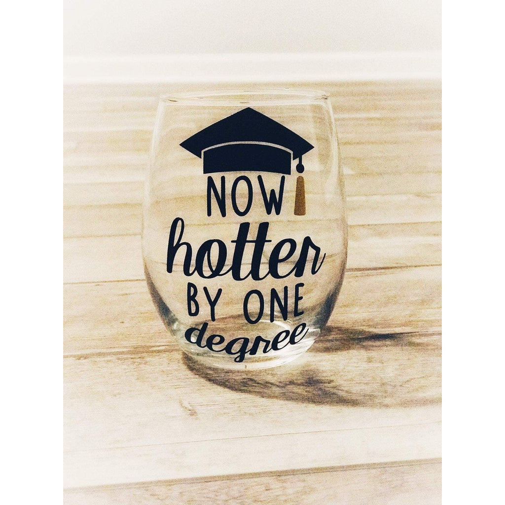 now hotter by one degree stemless wine glass