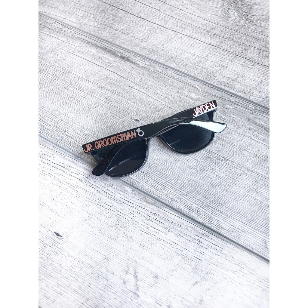 junior groomsman black sunglasses for kids or adults