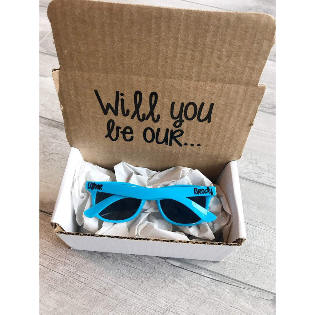 will you be our usher sunglasses proposal box