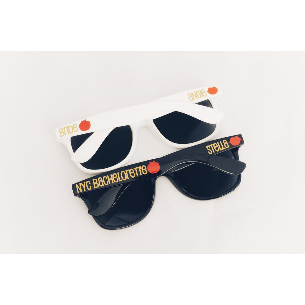 nyc bachelorette sunglasses with big apple personalized bachelorette