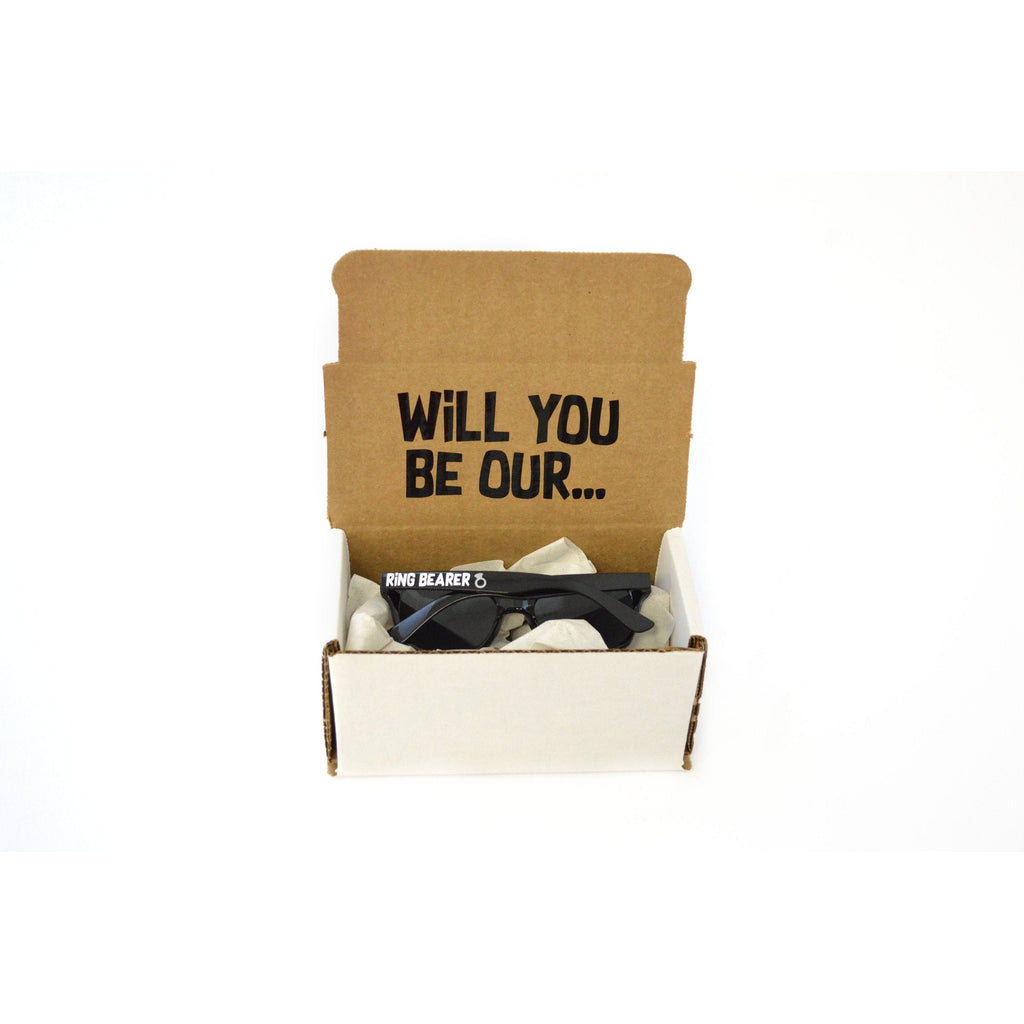 will you be our ring bearer sunglasses proposal box