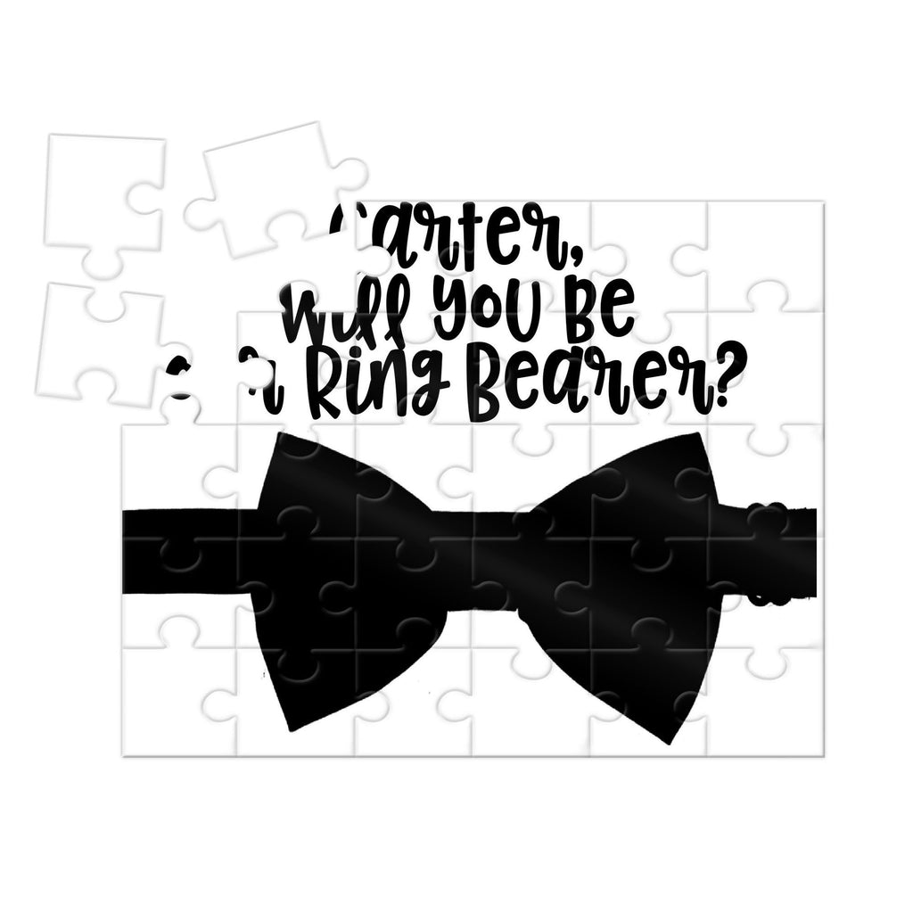 Will you be our ring bearer puzzle personalized with bow tie