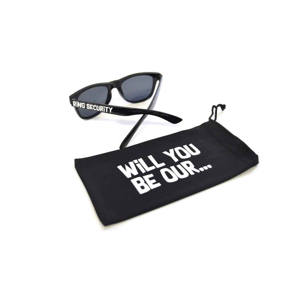 will you be our ring security sunglasses with protective microfiber bag