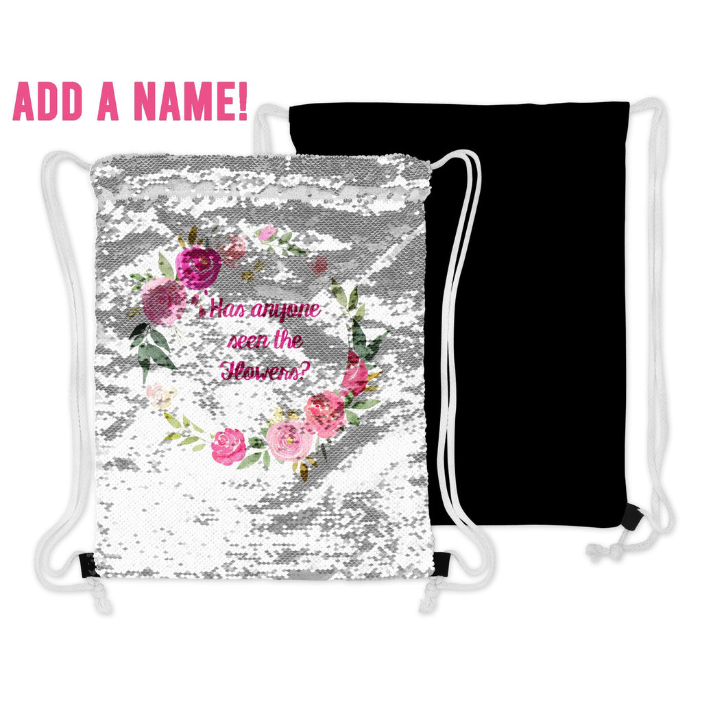 personalized sequin flip bag for flower girls