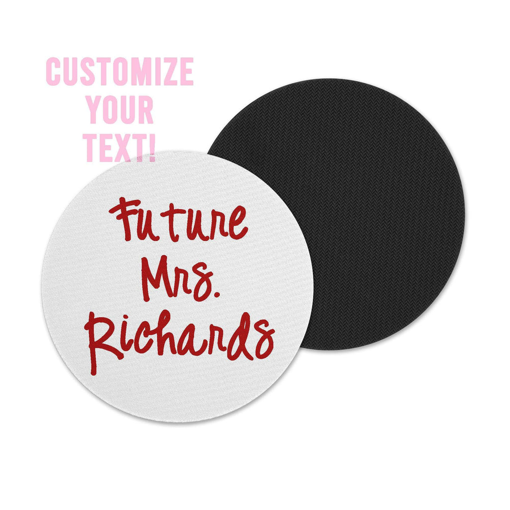 personalized printed white coasters