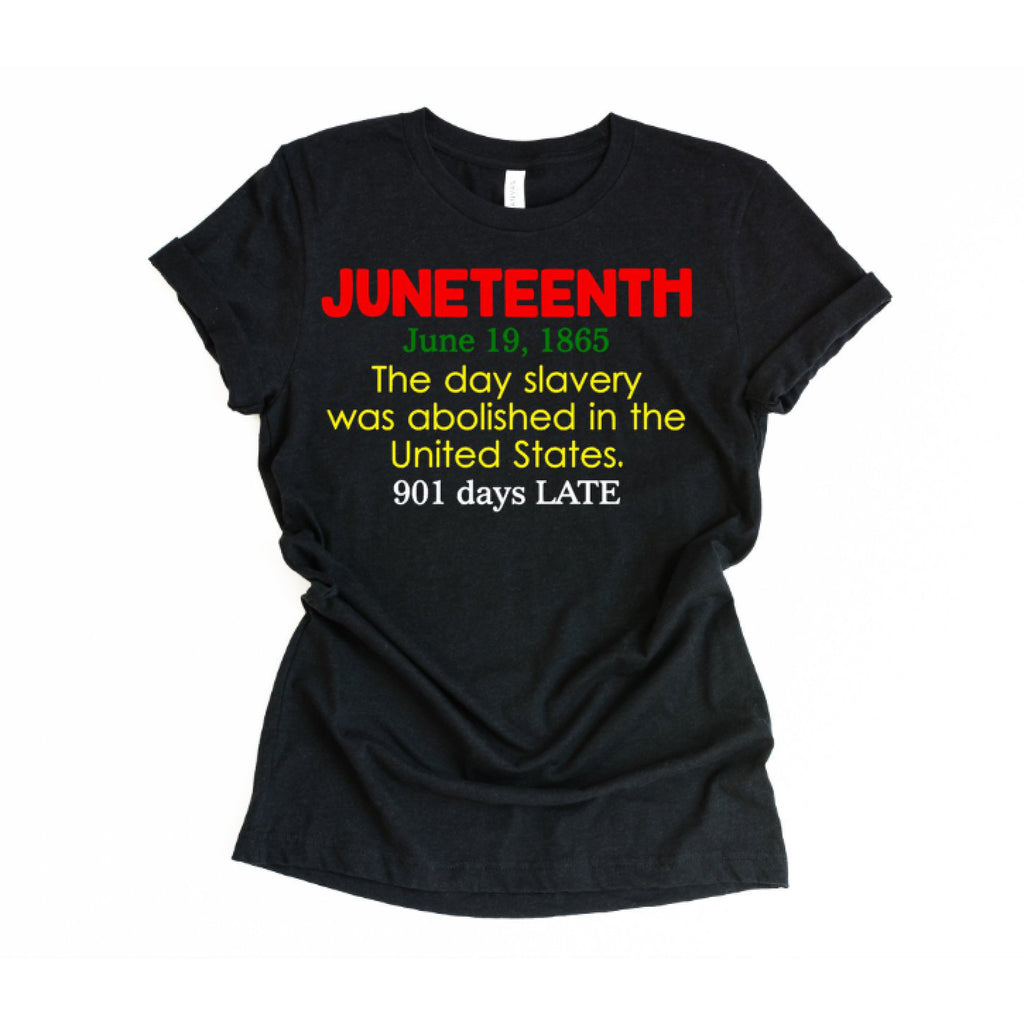 juneteenth definition shirt black shirt with red green yellow white text