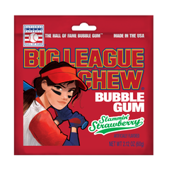 Big League Chew Softball Tray - Strawberry
