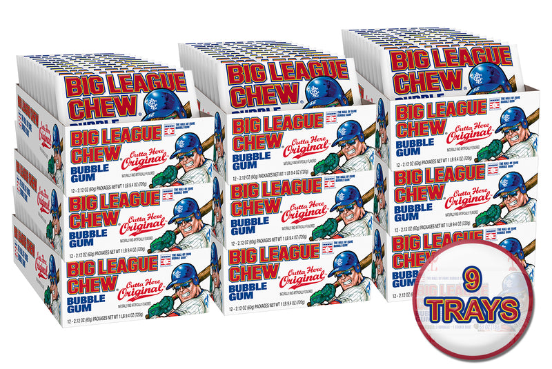 Big League Chew Case (9 Trays) - Original Bubblegum