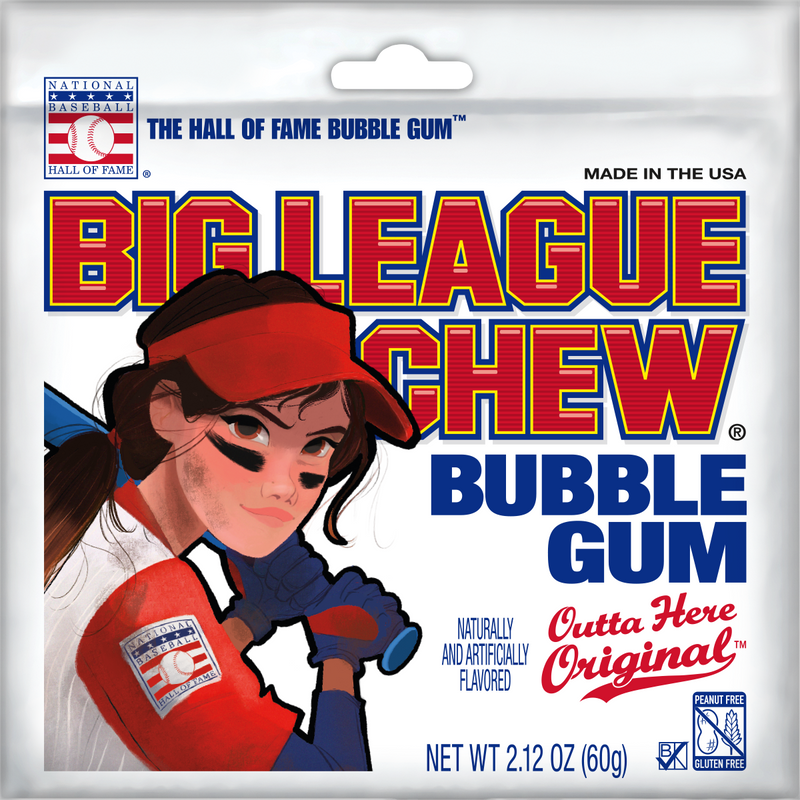 NEW Big League Chew Softball Case (4 Trays) - Outta Here Original