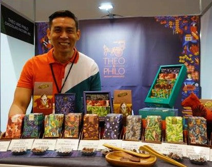 Theo and Philo chocolate booth