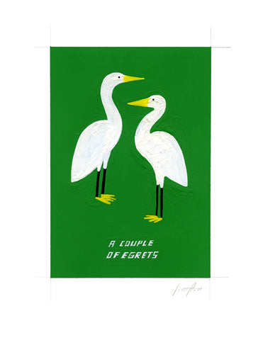 #267 A COUPLE OF EGRETS