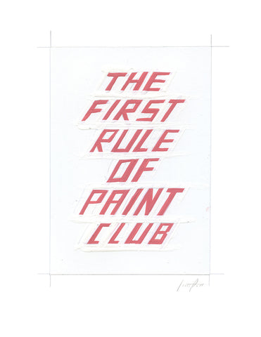 #328 THE FIRST RULE OF PAINT CLUB