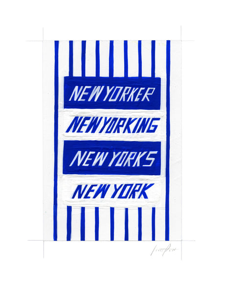 #257 NEW YORKING (WHITE AND BLUE STRIPES)
