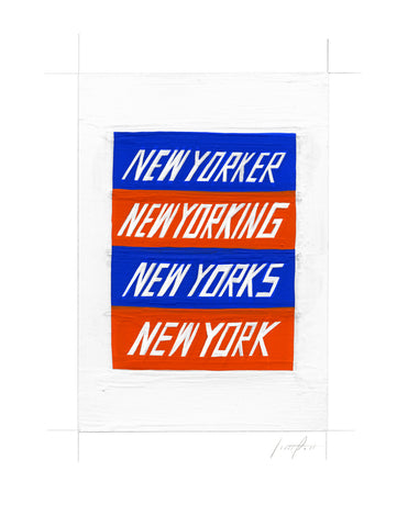 #255 NEW YORKING (BLUE AND ORANGE)