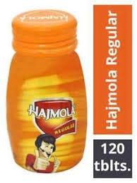 Dabur Hajmola Digestive Tablets, Regular - 120 Tablets (Bottle)