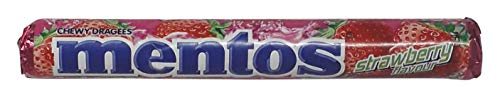 Mentos Chewy Dragees Roll - Strawberry, 36.4g