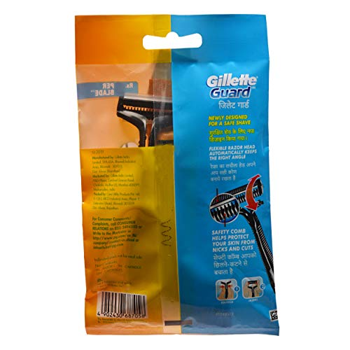 Gillette Guard Manual Shaving Razor with 12 Cartridges