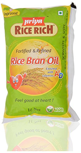 Priya Rice Rich Fortified & Refined Rice Bran Oil - 1 Litre