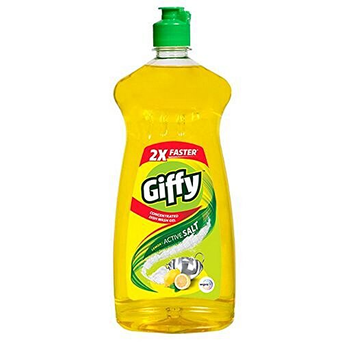 Giffy Lemon & Active Salt Concentrated Dish Wash Gel, 750ml