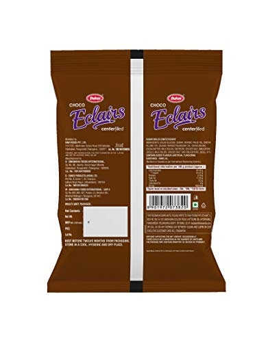 Dukes Choco Center Filled Eclairs Chocolate, 220g