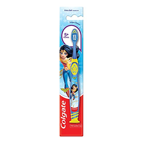Colgate Kids Wonder Woman Extra- Soft Toothbrush (5+ Years) - 1 Pc