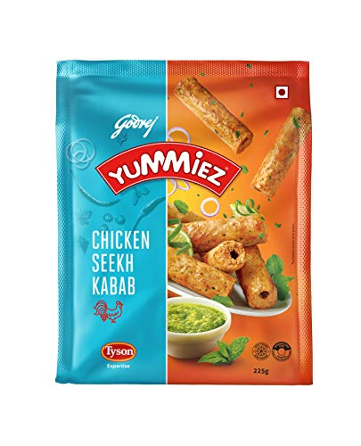 Yummiez Chicken Seekh Kabab Chicken 225 gm