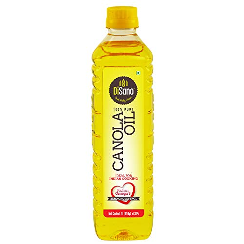 DiSano Canola Oil, for All Cooking Needs, Lowest in Saturated Fat, 1L