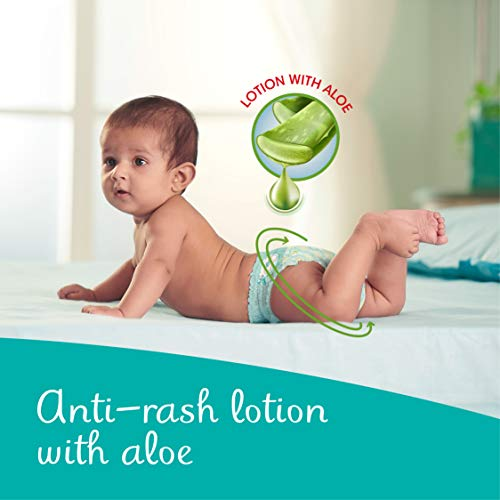 Pampers All round Protection Pants, New Born, Extra Small size baby diapers (NB/XS), 86 Count, Anti Rash Diapers, Lotion with Aloe Vera