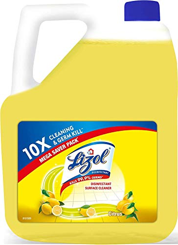 Lizol Disinfectant Surface & Floor Cleaner Liquid, Citrus - 5 L | Kills 99.9% Germs