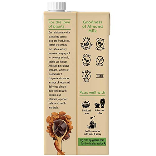 Epigamia Almond Milk - Chocolate, Dairy Free, 1 L