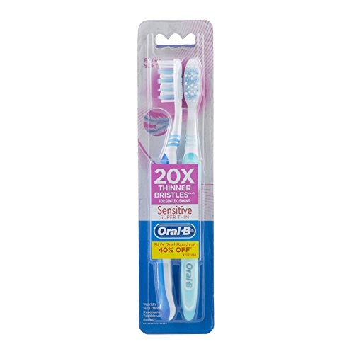 Oral B Sensitive Super Thin Thooth Brush - 2 Pieces (Extra Soft)
