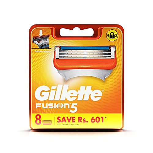 Gillette Fusion Manual Shaving Razor Blades - 8s Pack (Cartridge)