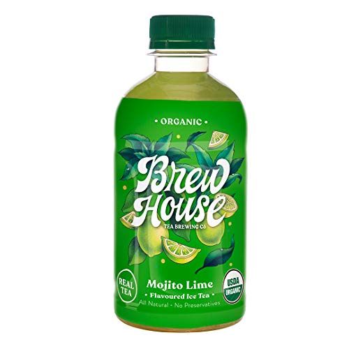 BrewHouse Tea Brewing Co. Naturally Brewed Organic Ice Tea - Mojito Lime, 300 ml (Pack of 6)