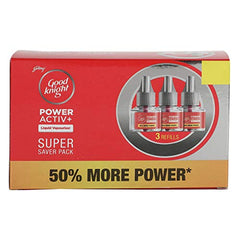 Good Knight Power Activ+ Liquid Refill Cartridge, 45ml (Pack of 3)