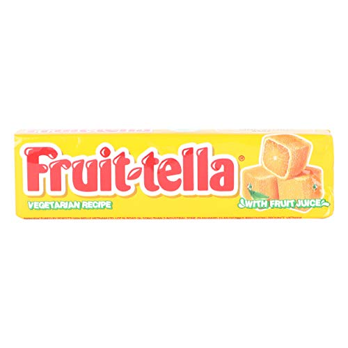 Fruit-Tella Chewy Toffee Stick - Orange Flavour, 45g