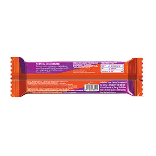 Britannia Bourbon Chocolate Cream Biscuits Pouch, 150g