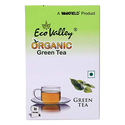 Eco Valley Organic Green Tea - Pure Green, 30 Tea Bags