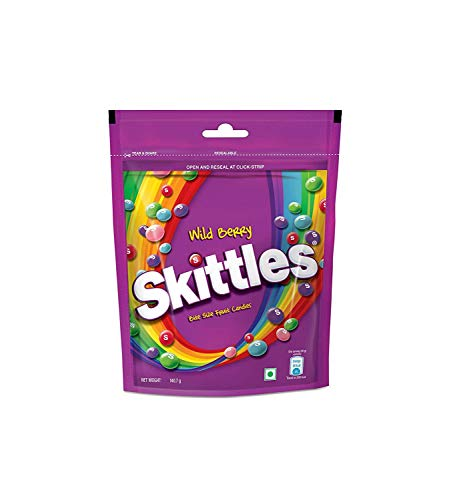 Skittles Wildberry Fruit Pouch, 100 g