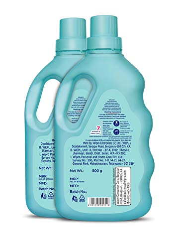 Safewash Liquid Detergent by Wipro, 500ml (Buy 1 Get 1 Free)