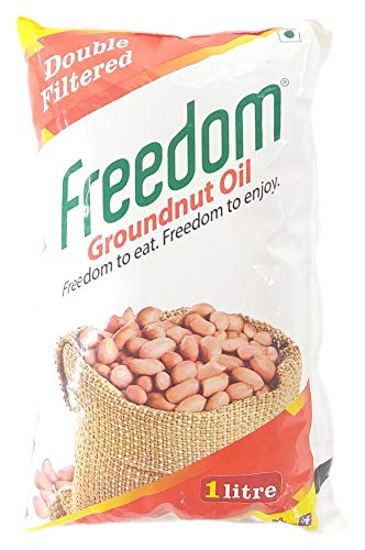 Freedom Double Filtered Cooking Oil - Groundnut, 1 Litre
