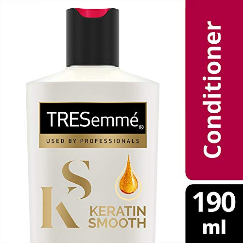 Tresemme Keratin Smooth Conditioner, With Keratin And Argan Oil For Straighter, Smoother And Shinier Hair, 190 ml