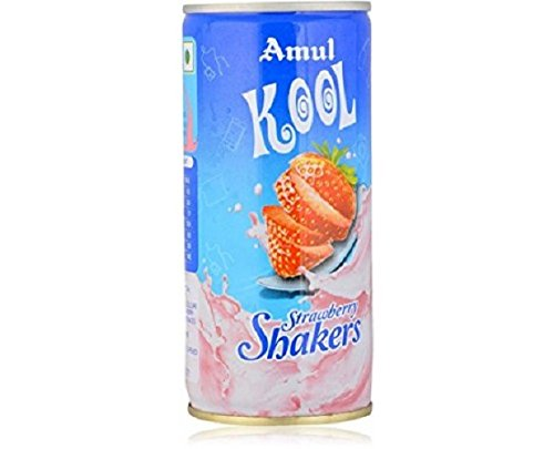 Amul Kool Strawberry Milk Shake Can, 200ml