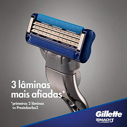 Gillette Mach3 Turbo Manual Shaving Razor Blades - 2s Pack (Cartridge)