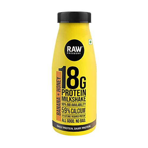Raw Pressery Dairy Protein Milkshake - Banana, Honey Bottle, 200 g