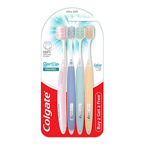 Colgate Gentle Enamel Ultra Soft Toothbrush - 4 Pcs (Buy 2 Get 2 Free)