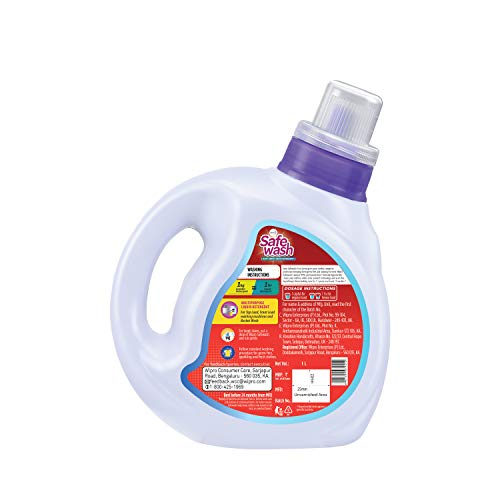 Safewash Anti Germ Liquid Detergent by Wipro, 1L