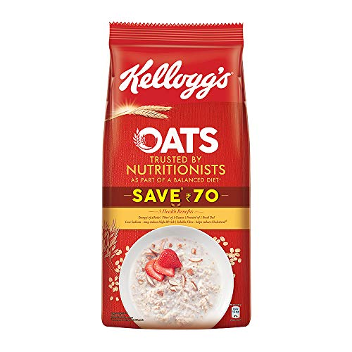 Kellogg's Oats, Rolled Oats, High in Protein and Fibre, Low in Sodium, 1.5kg Pack