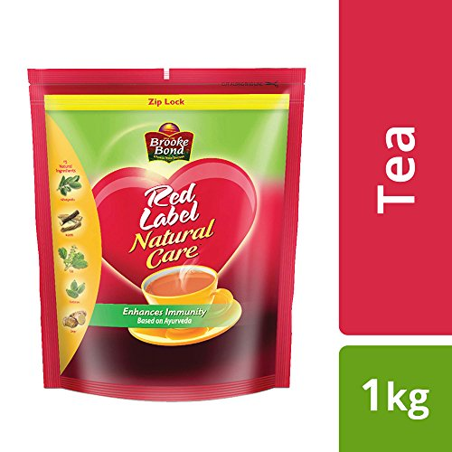 Red Label Natural Care Tea, Chai Made with 5 Ayurvedic Herbs, 1 Kg