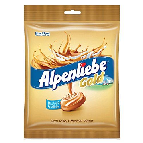 Alpenliebe Gold, Caramel Candy, 179.4 g (46 Pieces)