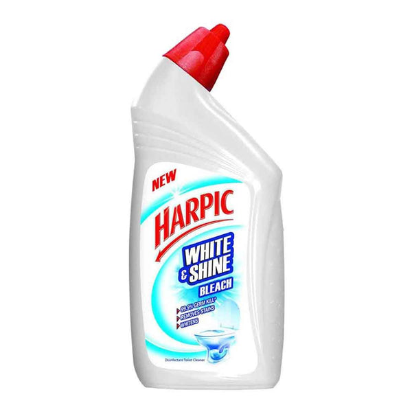Harpic White and Shine Bleach Toilet Cleaner, 500 ml